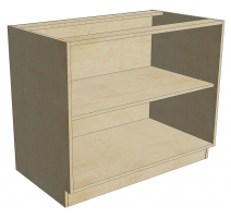 BCB 42 D1 Blind Cabinet Base Full Height 1 Door (Open)