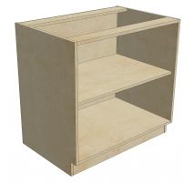 BCB 36 D1 DR1 Blind Cabinet Base 1 Door 1 Drawer (Open)