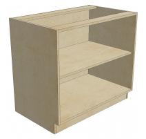 BCB 39 D1 DR1 Blind Cabinet Base 1 Door 1 Drawer (Open)