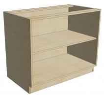 BCB 42 D1 DR1 Blind Cabinet Base 1 Door 1 Drawer (Open)