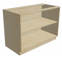 BCB 48 D1 DR1 Blind Cabinet Base 1 Door 1 Drawer (Open)