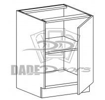 B 9 D1 Base Cabinet Full Height 1 Door (B7-R4-P6-SQ-3INCH)
