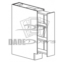 BSR 6 D1 Base Cabinet Pull Out Spice Rack 1 Door (B7-R4-P6-SQ-3IN)