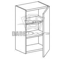 "W 15 30 12 D1 Wall Cabinet 30"" 1 Door (B7-R4-P6-SQ-3INCH)"