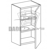 "W 15 36 12 D1 Wall Cabinet 36"" 1 Door (B7-R4-P6-SQ-3INCH)"