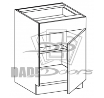 VB 18 D1 DR1 Vanity Base Cabinet 1 Door 1 Drawer (B7-R4-P6-SQ-3INCH)