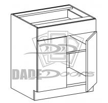 VSB 27 D2 DRF1 Vanity Sink Base 2 Door 1 Fixed Drawer (B7-R4-P6-SQ-3INCH)