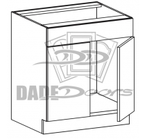 SB 33 D2 DRF1 Sink Base 2 Door 1 Fixed Drawer (B7-R4-P6-SQ-3IN)