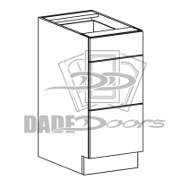 DR B 15 -3 Base Cabinet 3 Drawer (B7-R4-P6-SQ-3INCH)